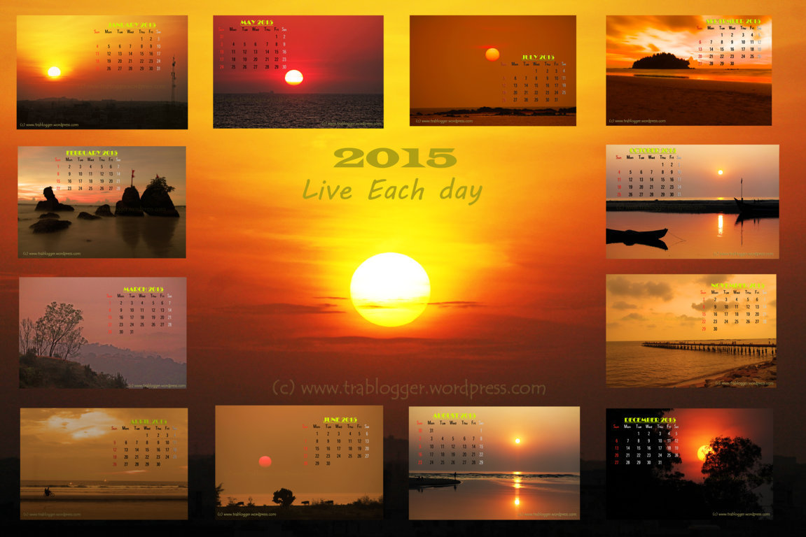 2015 Golden Hour calendar