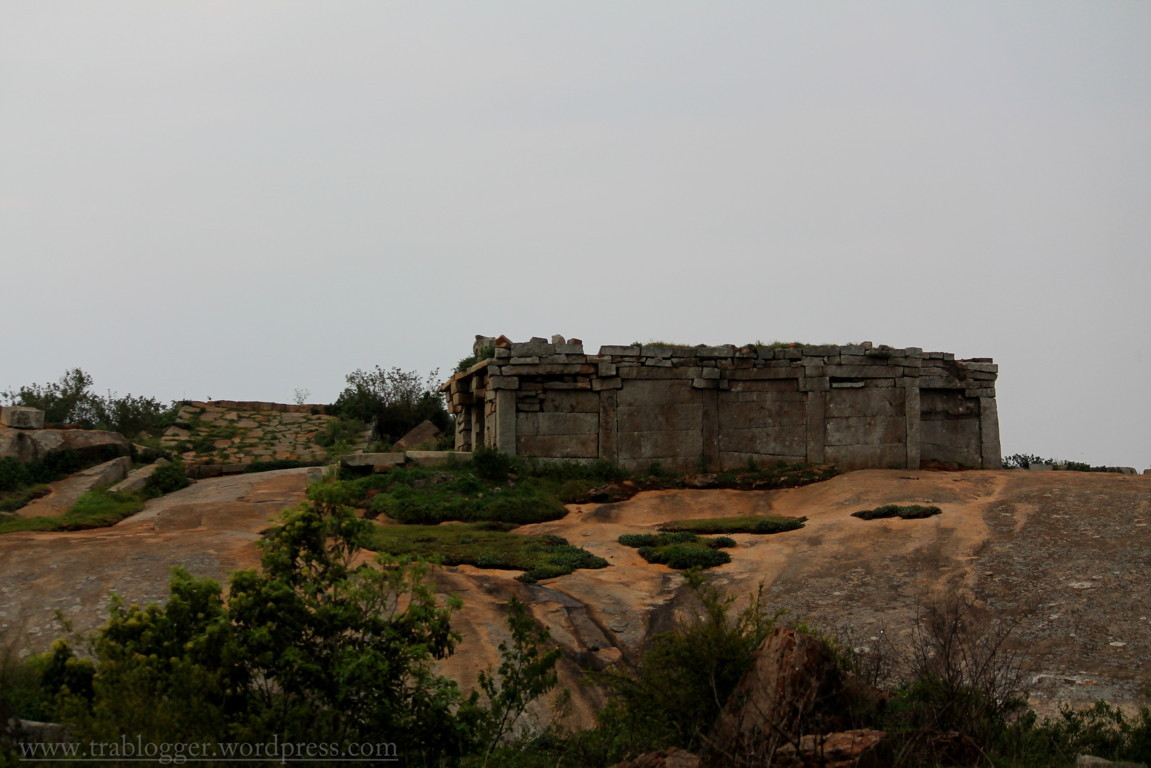 Side view of Temple @ Skandagiri