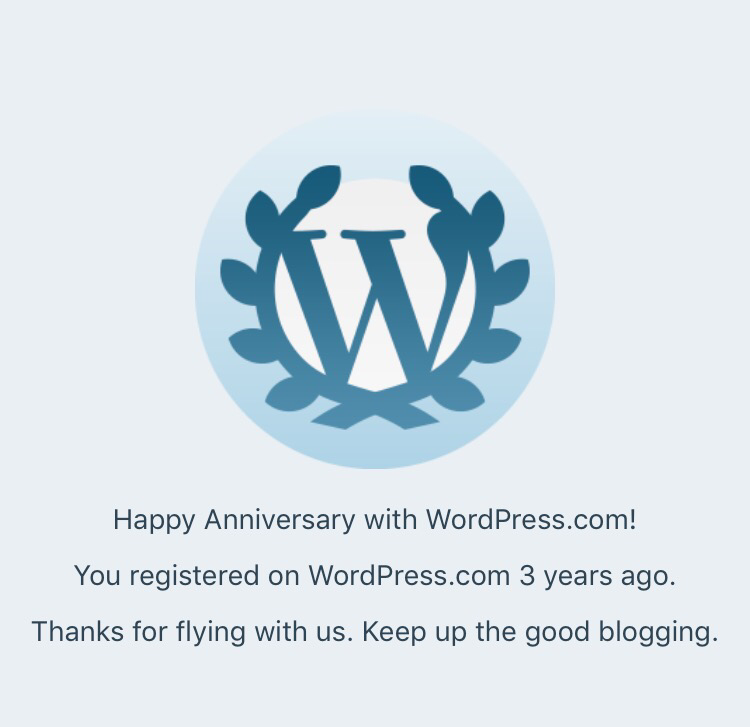 Trablogger WordPress 3 years