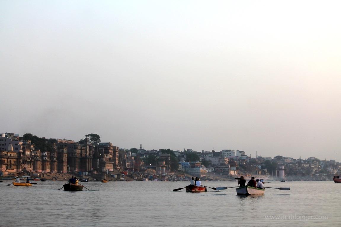 Varanasi morning boats