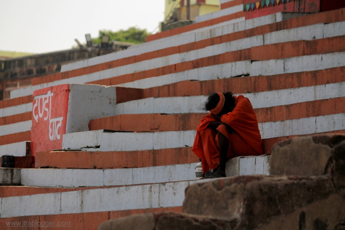 Sadhu Takes a quick nap at Varanasi