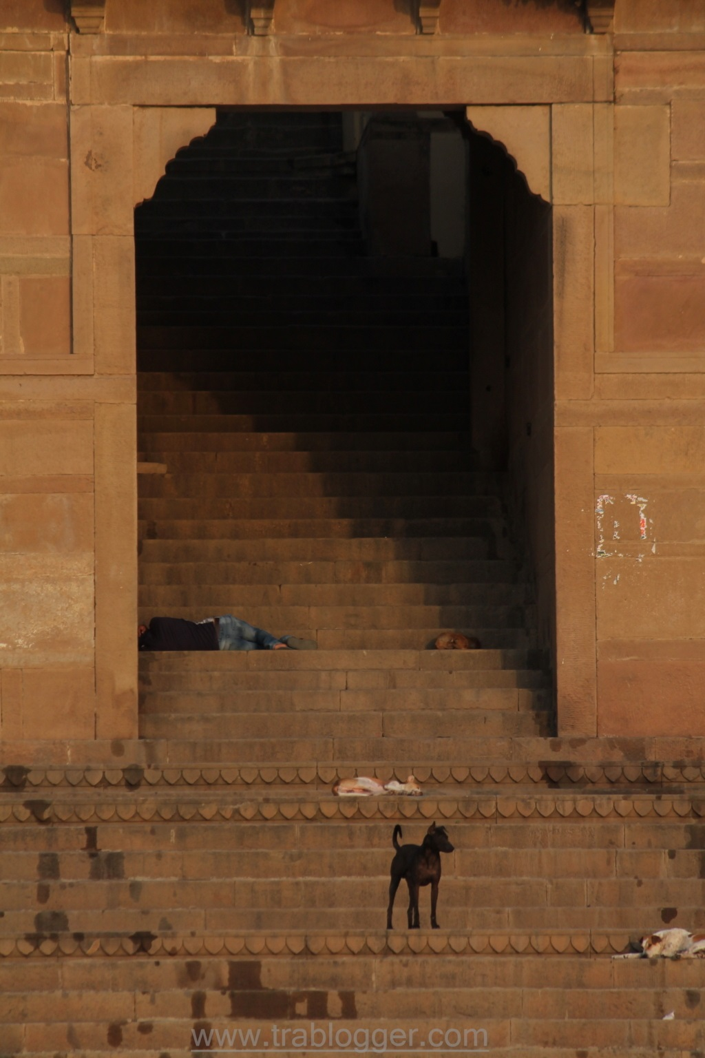 Sleeping at Varanasi