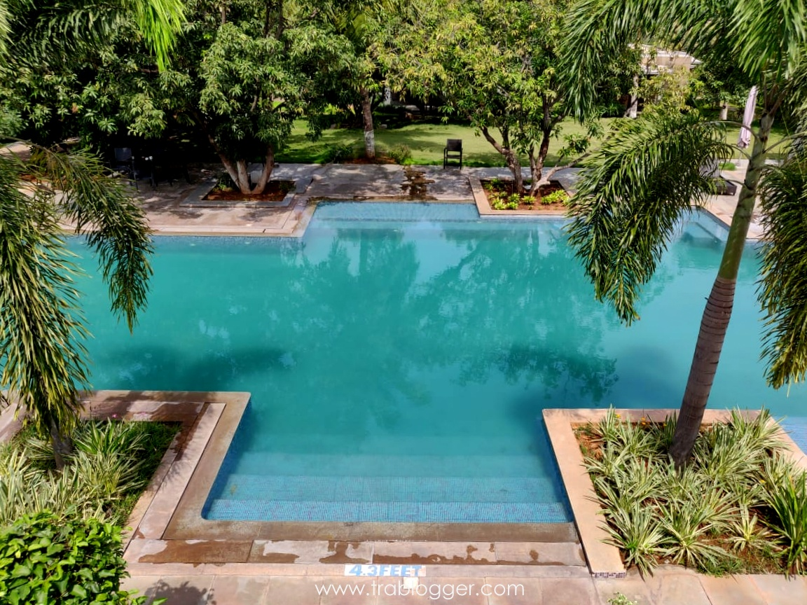 Swimming pool which inspired from Stepped tanks of Hampi