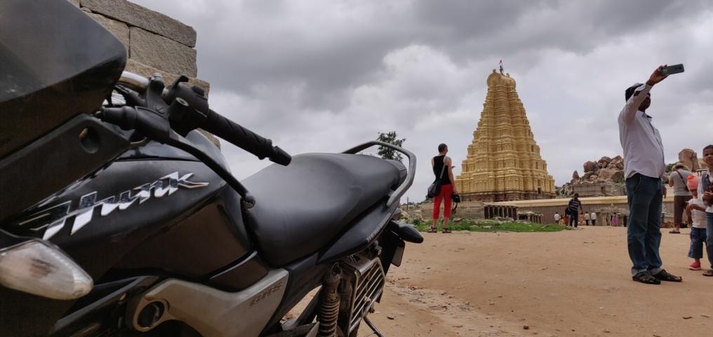 Motorcycling at Hampi Trablogger