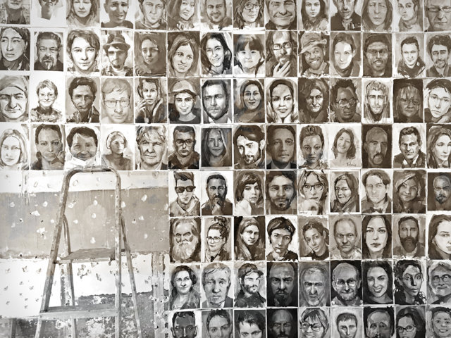 The portrait wall of Sergey Balovin