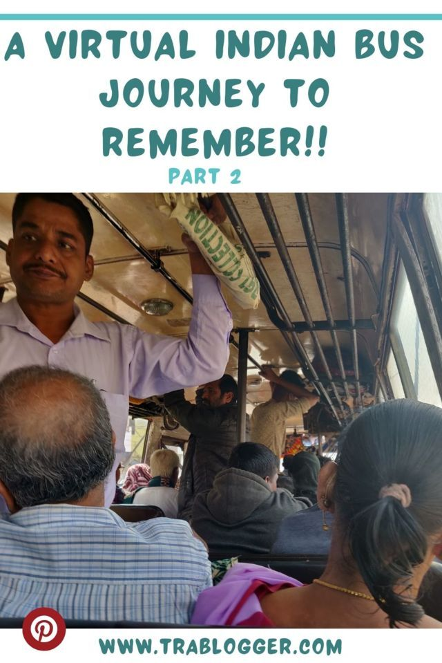 A virtual Indian bus journey to pin it trablogger
