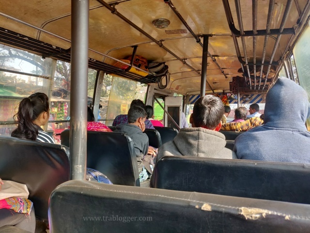Konark bus about to leave