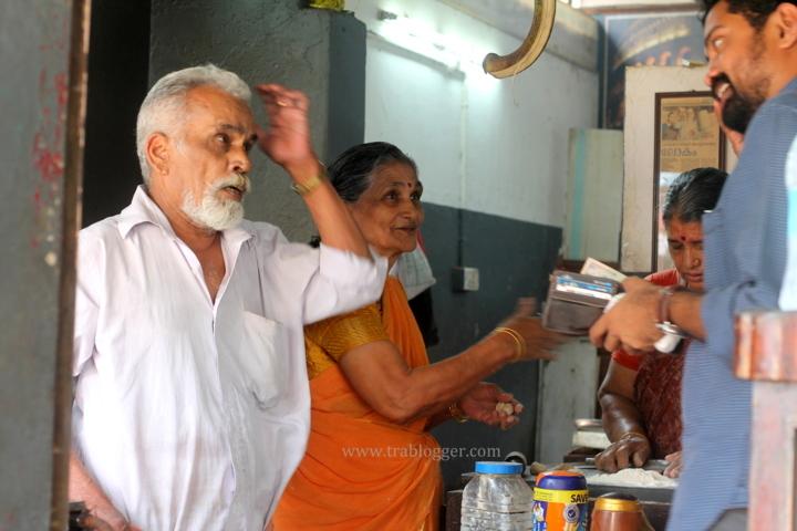 Vijayan and Mohana at their tea shop