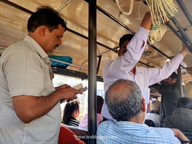ticket conductor in indian bus