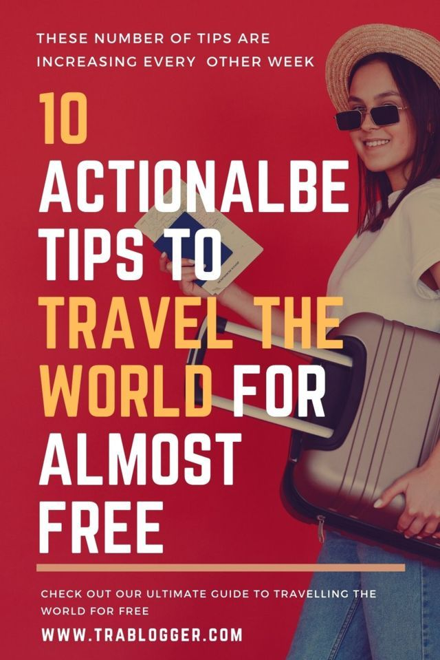 tips to travel the world for free pin it