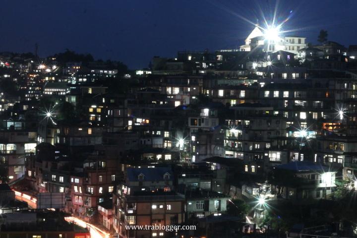 Beautiful Aizawl city at night