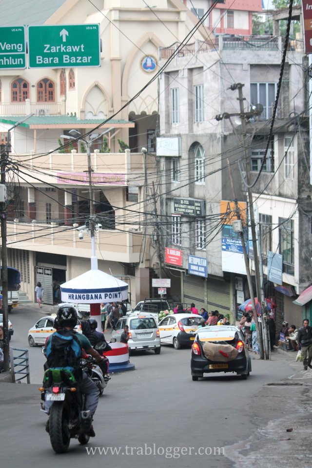 Traffic flows smoothly at Aizawl